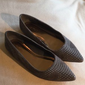 Ellen Tracy Suede and Studded Flats